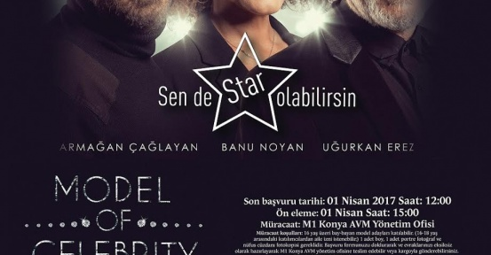 MODEL OF CELEBRITY 1 NİSAN'DA M1 KONYA'DA